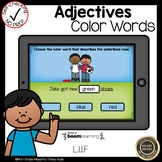 Boom Cards Adjectives Color Words
