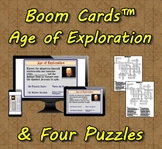 Boom Cards™ Age or Exploration & Four Puzzles