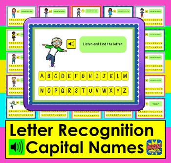 Boom Cards™  Alphabet Capital Letter Recognition: Letter Names Assessment