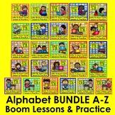 Boom Cards Alphabet Bundle: 26 Decks: 900+ Cards w/Audio D