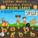 Boom Cards Alphabet Letter Match in the Pumpkin Patch (Fal