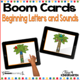 Boom Cards Alphabet Letter Matching and Beginning Sounds D