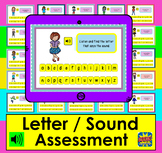 Boom Cards™  Alphabet Lowercase Letter / Sound Assessment or Practice