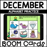 Boom Cards™   Alphabet Practice   December Themed First Grade