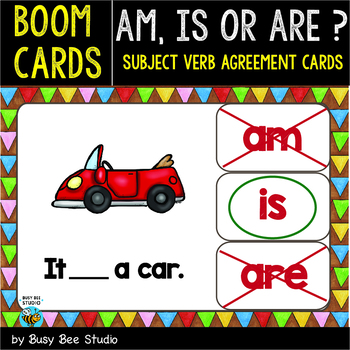 Boom Cards | Am. Is or Are ? | Easy Grammar for Young Learners