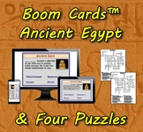 Boom Cards™ Ancient Egypt & Four Puzzles