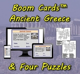 Boom Cards™ Ancient Greece & Four Puzzles