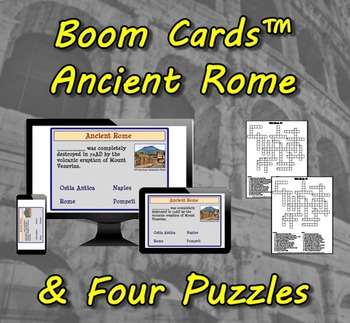 Boom Cards™ Ancient Rome & Four Puzzles