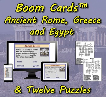 Boom Cards™ Ancient Rome, Greece and Egypt & Twelve Puzzles