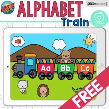 Boom Cards™ Animal Alphabet Train Freebie