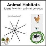 Boom Cards: Animal Habitats