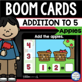 Boom Cards™ Apple Addition 1-5 DISTANCE LEARNING | Digital