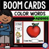 Boom Cards™ Apple Color Words DISTANCE LEARNING | Digital