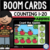 Boom Cards™ Apple Counting 1-20 DISTANCE LEARNING | Digita