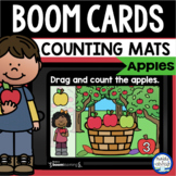 Boom Cards™ Apple Counting Mats 1-20 DISTANCE LEARNING | D