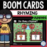Boom Cards™ Apple Rhyming DISTANCE LEARNING | Digital Task Cards