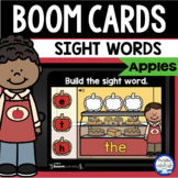 Boom Cards™ Apple Sight Words DISTANCE LEARNING | Digital