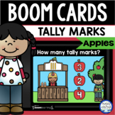 Boom Cards™ Apple Tally Marks 1-10 DISTANCE LEARNING | Dig