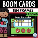 Boom Cards™ Apple Ten Frames 1-10 DISTANCE LEARNING Digita