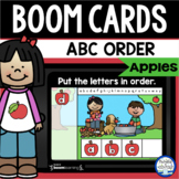 Boom Cards™ Apples ABC Order DISTANCE LEARNING | Digital T