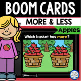 Boom Cards™ Apples Comparing Numbers with More & Less DIST