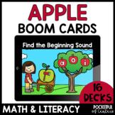 Boom Cards™ Apples Math & Literacy Bundle DISTANCE LEARNIN