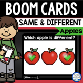 Boom Cards™ Apples Same & Different DISTANCE LEARNING | Di