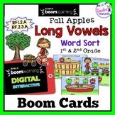 Boom Cards Fall Apples | September Word Sort | Long Vowels | Short Vowels