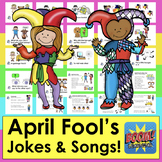 Boom Cards April Fool's Day With Jokes and Songs With Soun