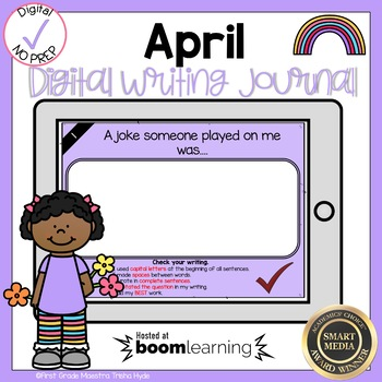 Boom Cards April Writing Journal