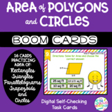 Boom Cards Area of Polygons and Circles Practice Self-Chec