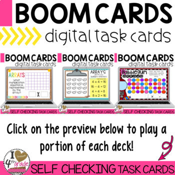 Boom Cards Array Bundle