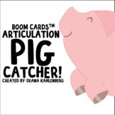 Boom Cards™️ Articulation Pig Catcher!