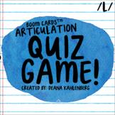 Boom Cards™️ Articulation Quiz Game- L
