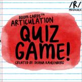 Boom Cards™️ Articulation Quiz Game- Prevocalic R