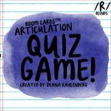 Boom Cards™️ Articulation Quiz Game- R Blends