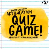 Boom Cards™️ Articulation Quiz Game- S