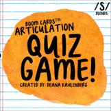 Boom Cards™️ Articulation Quiz Game- S Blends