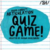 Boom Cards™️ Articulation Quiz Game- SH