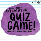 Boom Cards™️ Articulation Quiz Game- TH (voiceless)