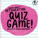 Boom Cards™️ Articulation Quiz Game- Vocalic R