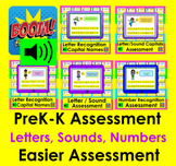 Boom Cards Assessment BUNDLE for PreK-Kindergarten:  Letters, Sounds, Numbers