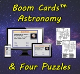 Boom Cards™ Astronomy & Four Puzzles