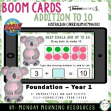 Boom Cards™ Australian Animals Addition to 10 - Addends -
