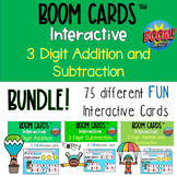 Boom Cards™ - BUNDLE 3 Digit Addition, Subtraction and Mix
