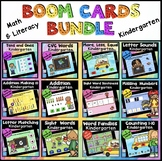 Math Centers Kindergarten Literacy Centers Boom Cards Math ELA BUNDLE