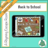 Boom Cards: Back to School- A Rhyming Escape Room