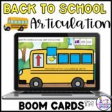 Boom Cards: Back to School Articulation | Gliding | L