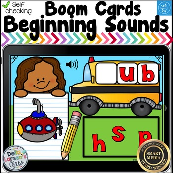 Boom Cards  Back to School Beginning Sounds