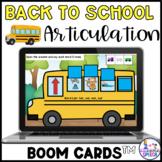 Boom Cards: Back to School Consonant Deletion CV, VC, CVC,